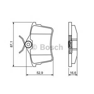 BOSCH 0 986 494 304 Тормозные колодки (пр-во Bosch)