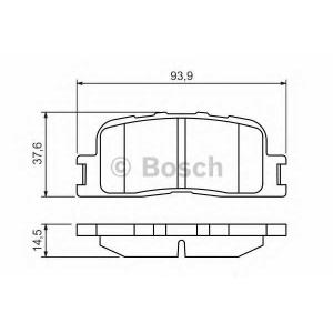 BOSCH 0 986 494 359 Колодки тормозные задние (пр-во Bosch)