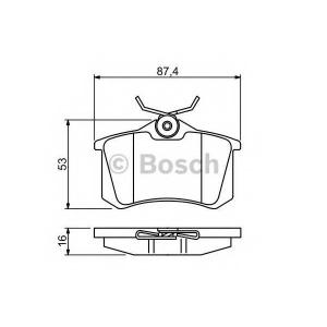 Комплект тормозных колодок, дисковый тормоз 0986494387 bosch - RENAULT FLUENCE (L30_) седан 1.6 16V
