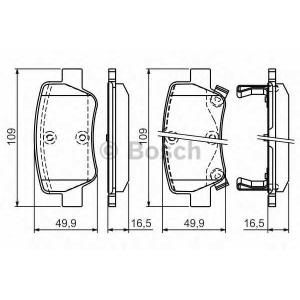 Комплект тормозных колодок, дисковый тормоз 0986494403 bosch - TOYOTA AVENSIS седан (T27) седан 2.0 D-4D
