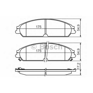 BOSCH 0986494483 Гальмівні колодки CHRYSLER/DODGE 300C/Caliber/Challenger \F \05>>