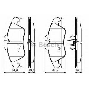 BOSCH 0986494504 Гальмівні колодки VW LT Front