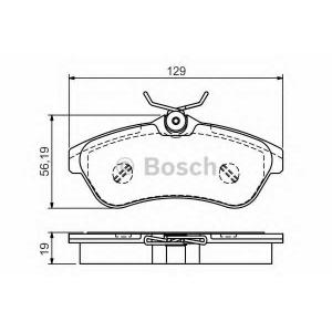 BOSCH 0 986 495 064 Комплект тормозных колодок, дисковый тормоз Ситроен С3 Плюриель