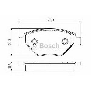 0986495069 bosch Комплект тормозных колодок, дисковый тормоз RENAULT MEGANE Наклонная задняя часть 1.4 16V (BM0B, CM0B)