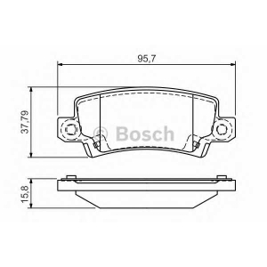 BOSCH 0986495072 Гальмівні колодки дискові PR2 TOYOTA Corolla ''1.4i,1.6i 16V ''>>02
