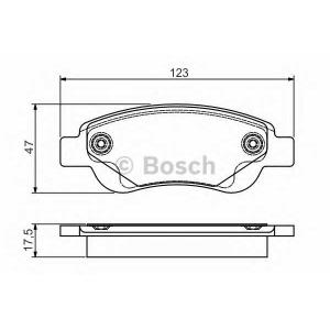 BOSCH 0 986 495 085 Комплект тормозных колодок, дисковый тормоз Ситроен С1