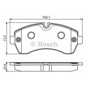 Гальмівні колодки дискові PR2 MB/VW Sprinter ''4,5 0986495107 bosch -
