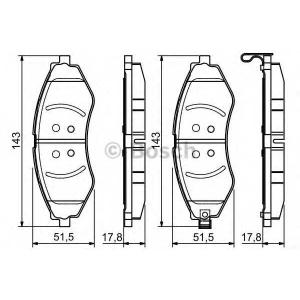 Колодка торм. CHEVROLET LACETTI передн. (пр-во ABS 0986495116 bosch -
