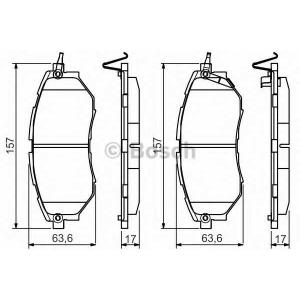 BOSCH 0986495156 Гальмівні колодки дискові Subaru Legacy Outback Tribeca