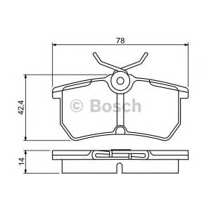 BOSCH 0 986 495 227 Комплект тормозных колодок, дисковый тормоз Форд Б-Макс