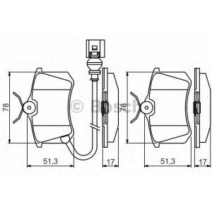 BOSCH 0 986 495 239 Комплект тормозных колодок, дисковый тормоз Ситроен С3 Плюриель