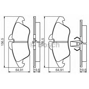BOSCH 0986495245 Гальмівні колодки дискові MERCEDES/VW Sprinter/Vito(638)/LT ''F PR2