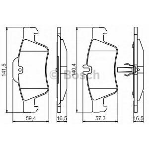BOSCH 0986495248 Гальмівні колодки PR2 MERCEDES S (W220/W221)/E (W211/W212)