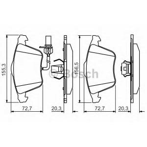 BOSCH 0986495272 Гальмівні колодки дискові AUDI S4/A6/A4/A8 ''F  ''>>07 PR2