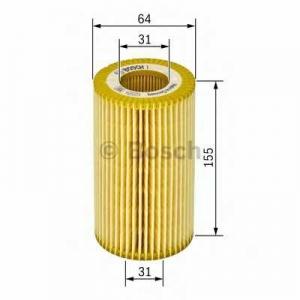 BOSCH 1457429185 Фильтр масляный BMW 1, 3(E46,E90), 5(E60) 2.0D (пр-во Bosch)