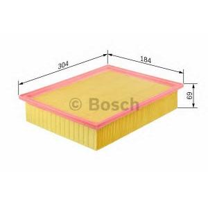 Воздушный фильтр 1457429792 bosch - AUDI 100 (4A, C4) седан 2.4 D