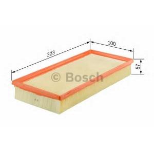 BOSCH 1457433260 Фильтр воздушный RENAULT 1,8/2,0: Laguna -01, Espace 96-02 (100*57*323)