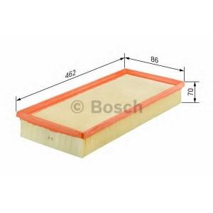 Воздушный фильтр 1457433522 bosch - MERCEDES-BENZ C-CLASS (W203) седан C 200 Kompressor (203.045)