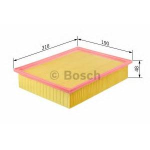 Воздушный фильтр 1457433523 bosch - MERCEDES-BENZ E-CLASS (W210) седан E 200 Kompressor (210.048)