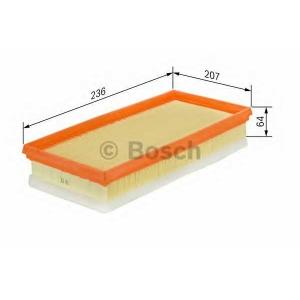 Воздушный фильтр 1457433583 bosch - VOLVO S40 II (MS) седан 2.4