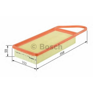 Воздушный фильтр 1457433591 bosch - PEUGEOT 407 (6D_) седан 2.0