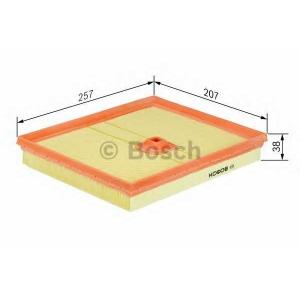 BOSCH 1457433788 Фильтр воздушный DB W220 5,8 M137 99-05 (257*38*207)