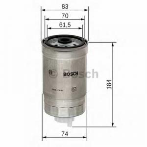 Топливный фильтр 1457434293 bosch - FIAT MULTIPLA (186) вэн 1.9 JTD 105 (186AXB1A)