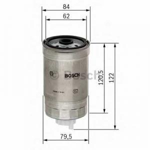 BOSCH 1457434435 Паливний фільтр 4435 KIA/MITSUBISHI Galant,Lancer,Space Wagon,Sportage -00