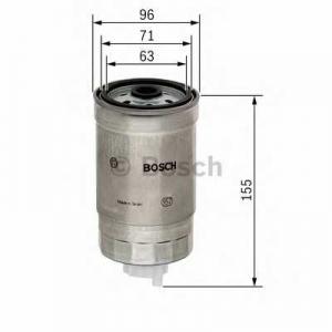Топливный фильтр 1457434439 bosch - NISSAN TERRANO Van (R20) фургон 3.0 Di 4WD