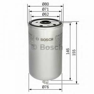 BOSCH 1457434447 Паливний фільтр 4447 MAN L2000,M2000,F2000