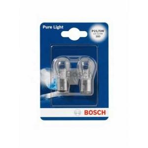 BOSCH 1 987 301 016 Лампа накаливания P21/5W 12V 21/5W PURE LIGHT (blister 2 шт) (пр-во Bosch)