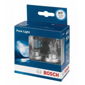 BOSCH 1987301406 Лампа H7 55W 12V Pure Light бокс 2 шт.