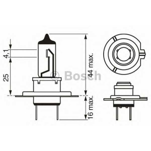 BOSCH 1987302071 Лампа H7 55W 12V Pure Light картон