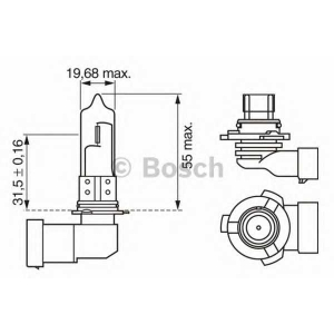 BOSCH 1987302152 Лампа HB3