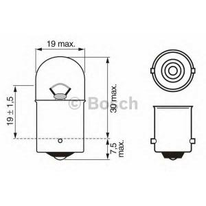 BOSCH 1987302203 Лампа R10W 12V W-V кратн. 10шт.