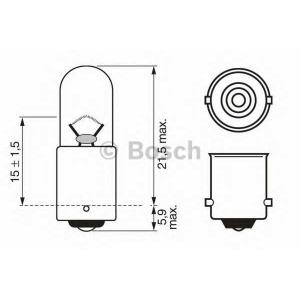 BOSCH 1 987 302 207 Лампа накаливания 12V 4W T4W PURE LIGHT (пр-во Bosch)