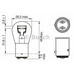 BOSCH 1987302215 Лампа P21/4 W 12V W-V кратн. 10шт