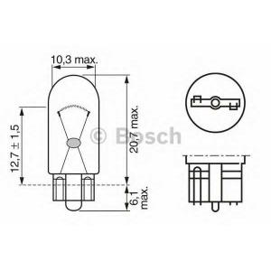BOSCH 1987302217 Лампа W3W 12V кратн. 10 шт.