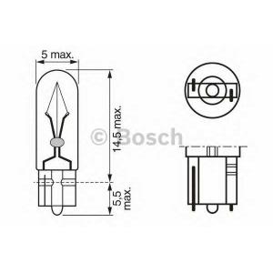 BOSCH 1 987 302 218 Лампа накаливания 12V 2W W2x4,6d PURE LIGHT (пр-во Bosch)