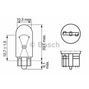 BOSCH 1987302223 Лампа W2W 12V кратн. 10 шт.