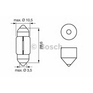 BOSCH 1987302227 Лампа STANDARD 10W 12V 227 кратн. 10 шт.