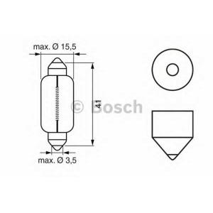 BOSCH 1 987 302 229 Автомобильная лампа standart 12V WV