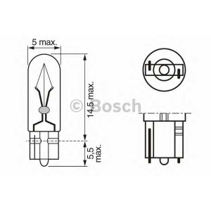 BOSCH 1987302240 Лампа W2,3W 12V 2,3W W2x4,6d  Pure Light