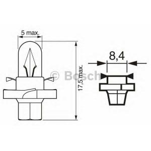 BOSCH 1987302243 Лампа STANDARD 1.12 W 12V кратн. 10 шт.