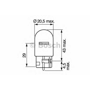 BOSCH 1 987 302 251 Лампа накаливания W21W 12V 21W W3x16d PURE LIGHT (пр-во Bosch)