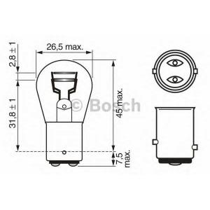 BOSCH 1987302524 Лампа P21/5W 24V