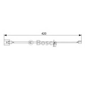 Сигнализатор, износ тормозных колодок 1987473012 bosch - AUDI Q7 (4L) вездеход закрытый 3.0 TDI