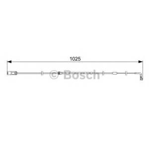 Сигнализатор, износ тормозных колодок 1987473026 bosch - BMW X5 (E70) вездеход закрытый 3.0 si