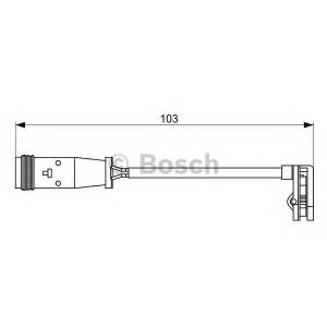 BOSCH 1987473037 Датчик зношування гальм. колодок Mercedes Vito W639, Sprinter 906