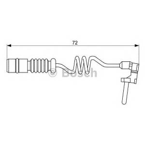 Сигнализатор, износ тормозных колодок 1987473057 bosch - MERCEDES-BENZ G-CLASS (W463) вездеход закрытый G 500 (463.247, 463.248, 463.249, 463.240, 463.421)